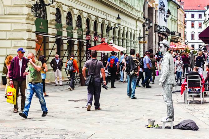 Μπρατισλάβα street artists