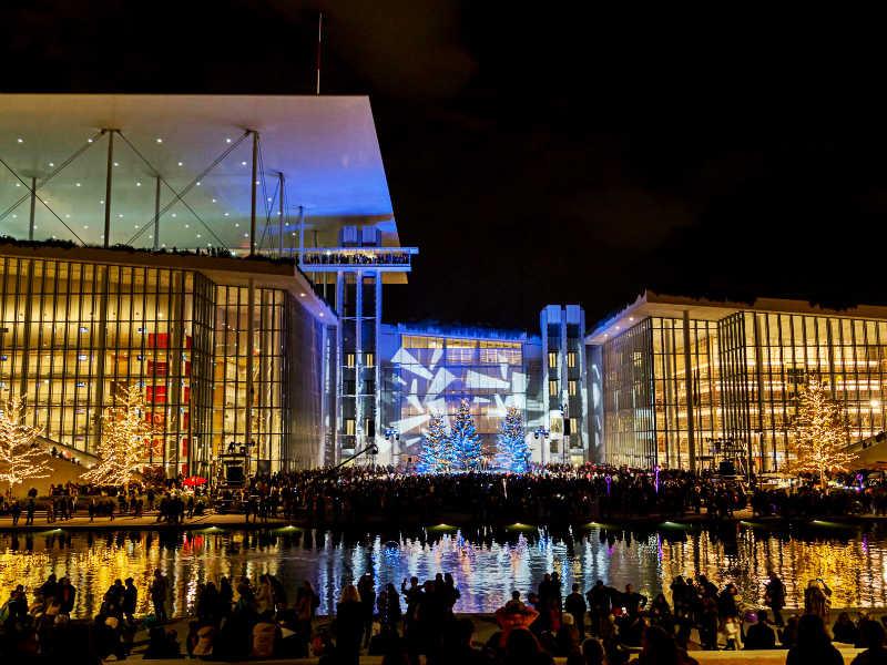 Κέντρο Πολιτισμού Ίδρυμα Σταύρος Νιάρχος: Η εντυπωσιακή εκδήλωση για την φωταγώγηση Χριστουγεννιάτικου Κόσμου! (video)