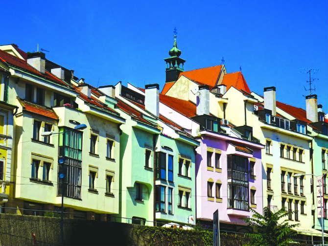Μπρατισλάβα πολύχρωμα κτίρια