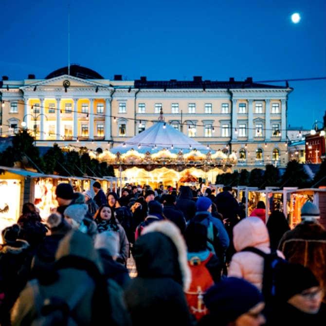 Ελσίνκι, Φινλανδία Χριστουγεννιάτικη αγορά