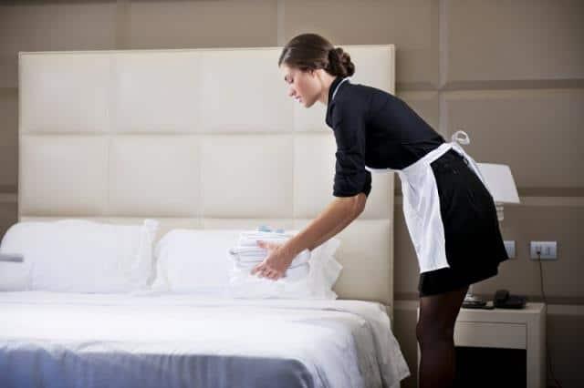 Καθαριότητα ξενοδοχείου, καμαριέρα