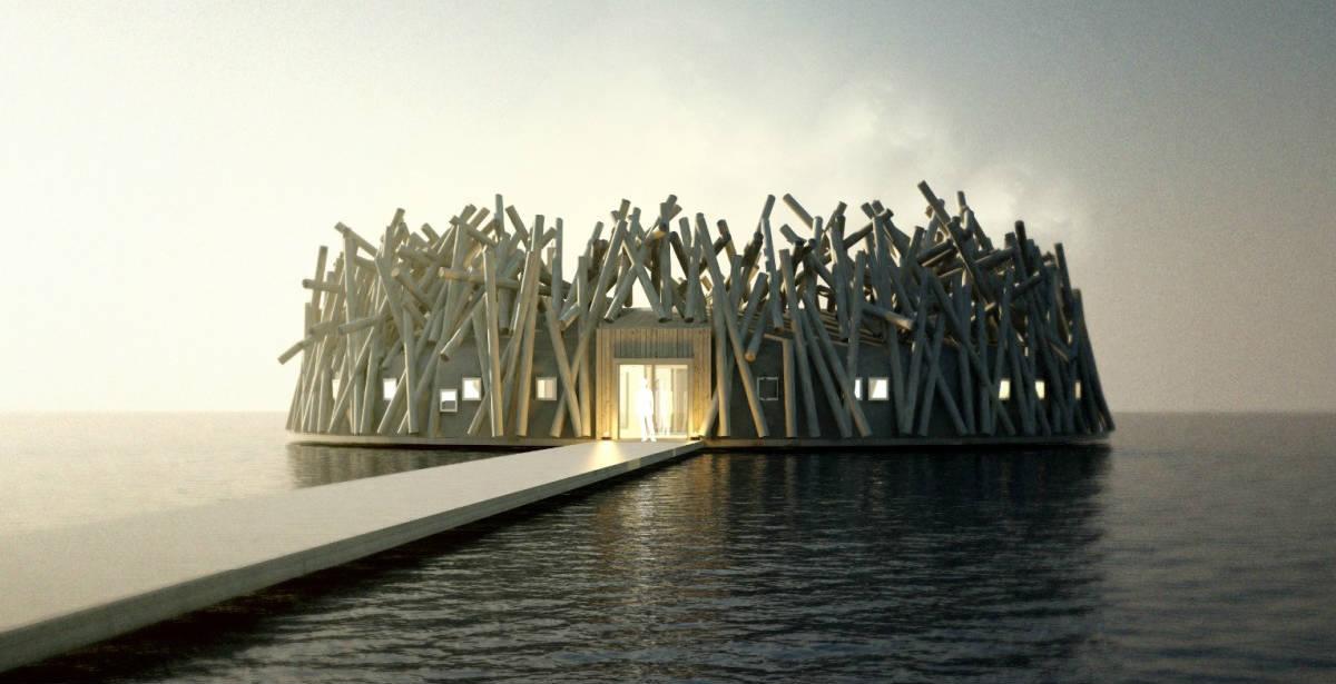 Arctic Bath: Ξενάγηση μέσα στο εντυπωσιακό πλωτό ξενοδοχείο – σπα που άνοιξε στη Σουηδία! (photos)
