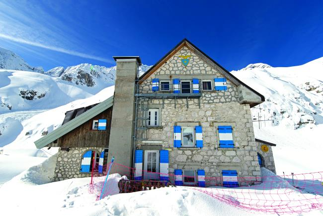 Κτίριο στα βουνά Kanin