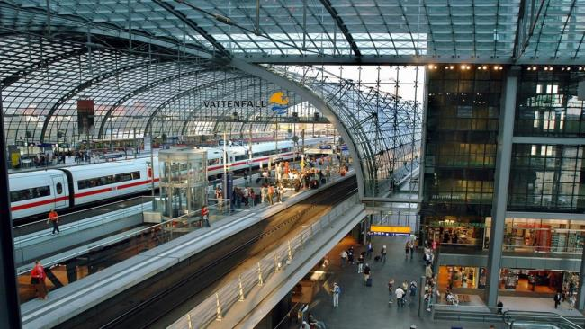 Berlin Hauptbahnhof σταθμός τρένων Βερολίνου