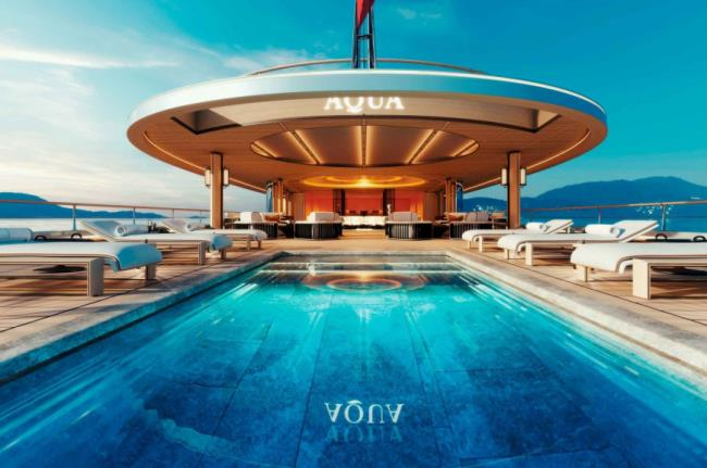 Aqua superyacht πισίνα
