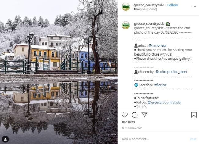 Χιονισμένη Φλώρινα instagram 1