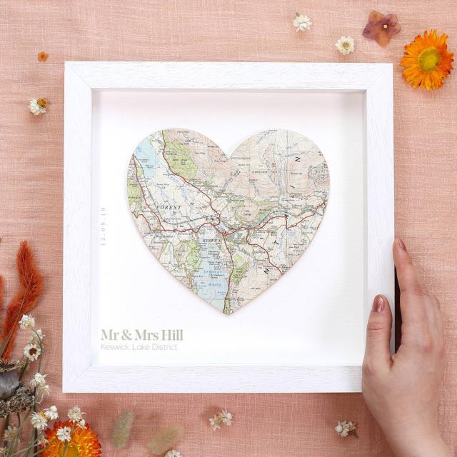 Χάρτης για δώρο Αγίου Βαλεντίνου για ταξιδιώτες