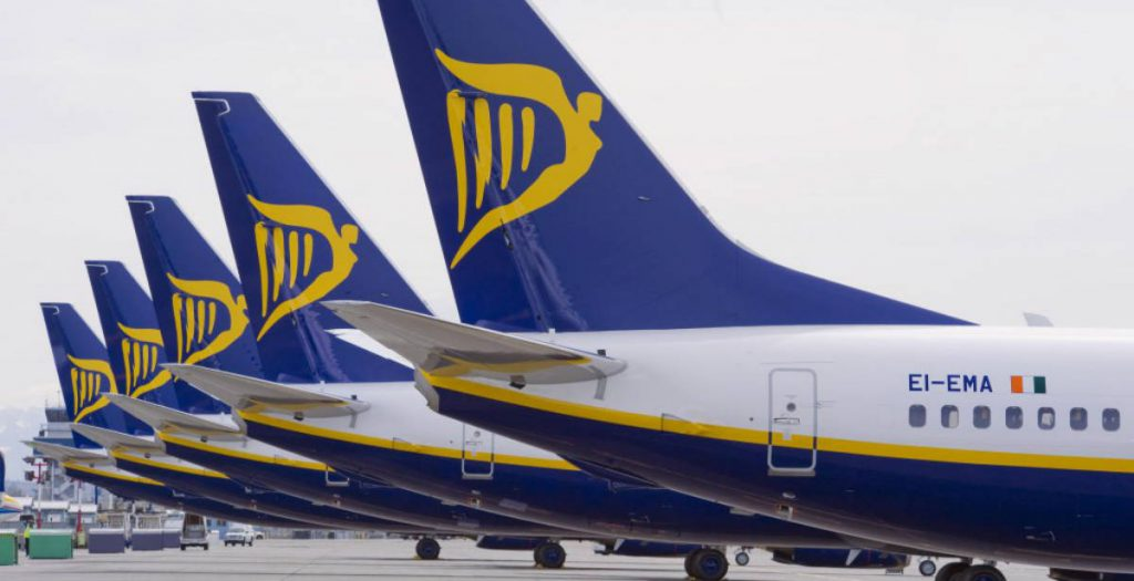 Ryanair φτερό αεροπλάνου