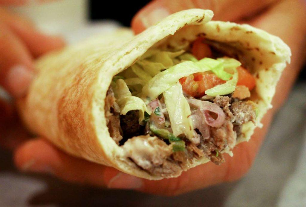 Σαουάρμα - ιορδανική κουζίνα