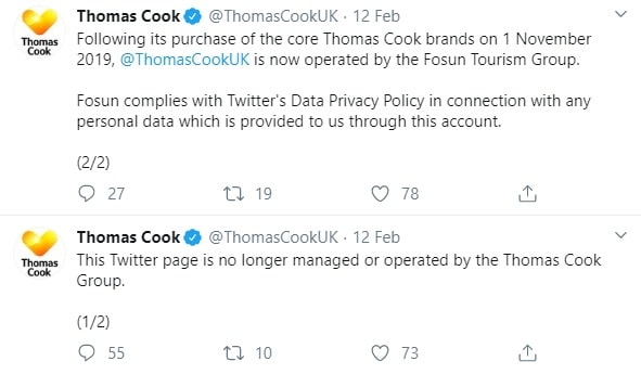 Thomas Cook new social media