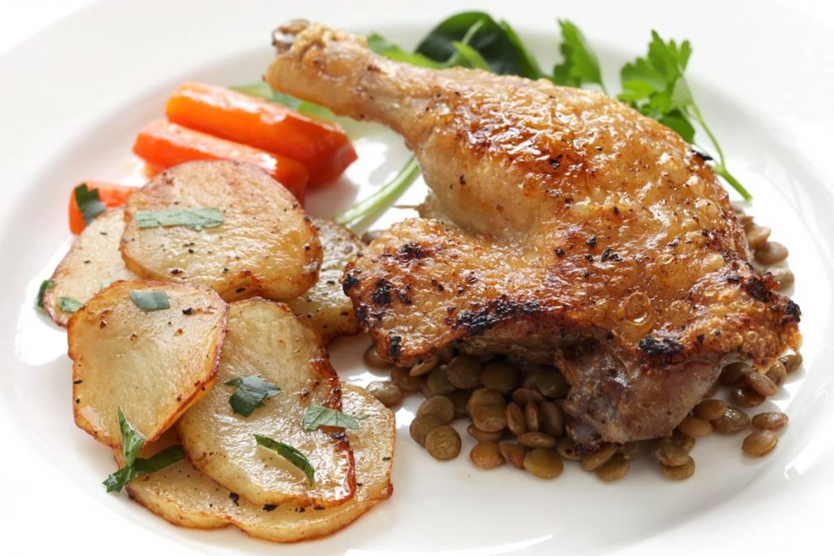 Confit de canard - γαλλική κουζίνα