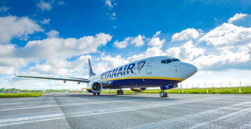 Ryanair αεροσκάφος πριν την απογείωση
