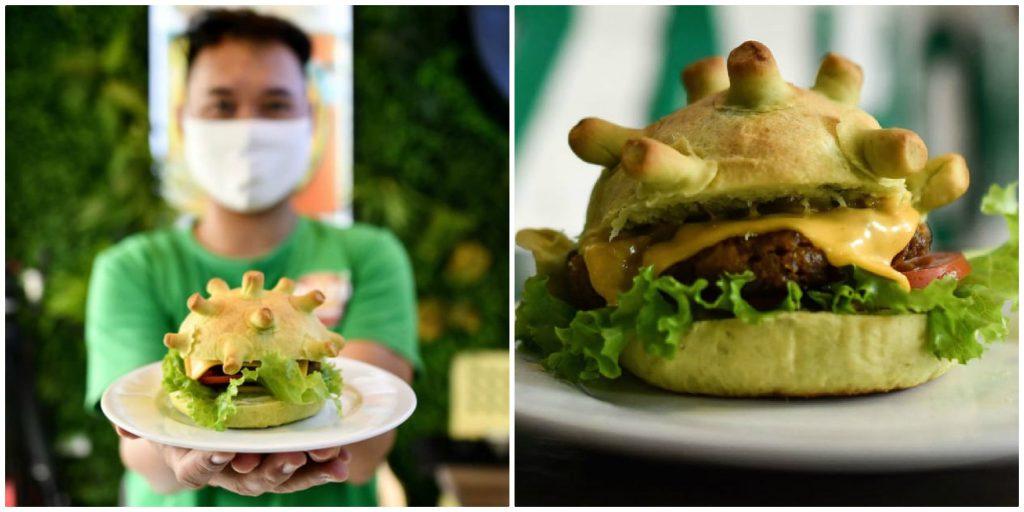 Corona Burger: μπέργκερ εμπνευσμένο από τον κορονοϊό