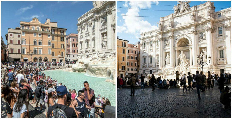 Διάσημα τουριστικά αξιοθέατα της Ευρώπης πριν και μετά τον κορονοϊό! Δείτε τις φωτογραφίες…