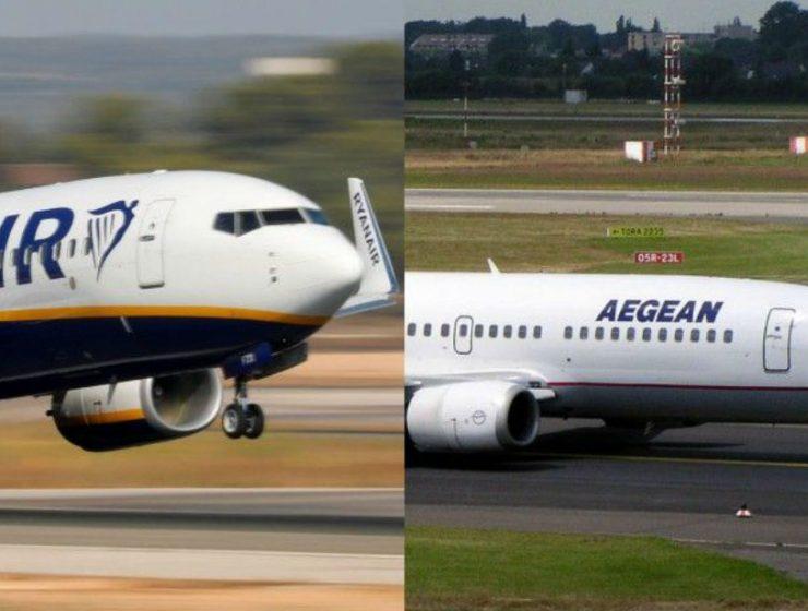 Ryanair, Aegean ανακοινώσεις
