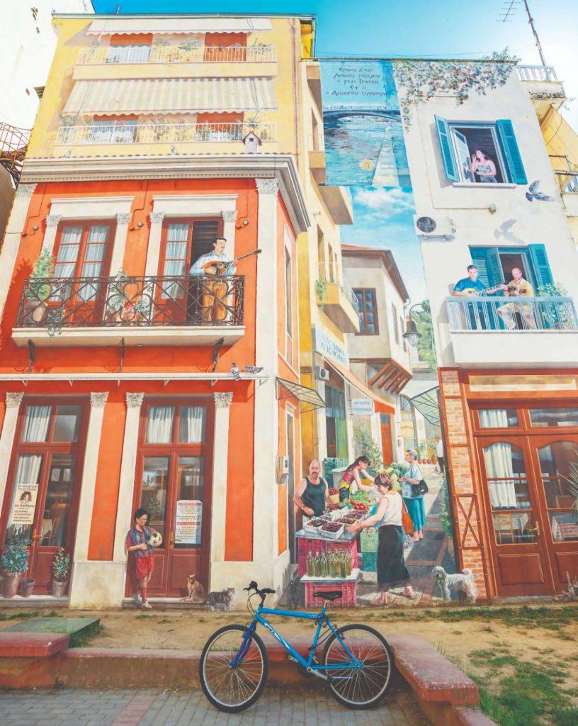 Τοιχογραφία στα Μανάβικα, Τρίκαλα