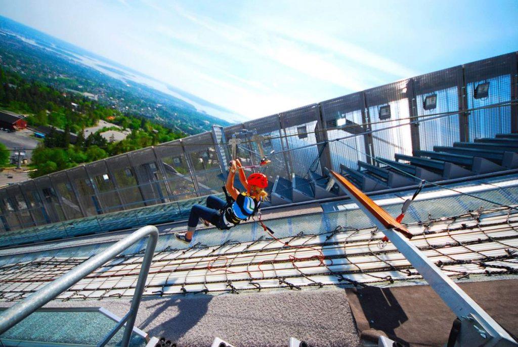 Ziplining Holmenkollen