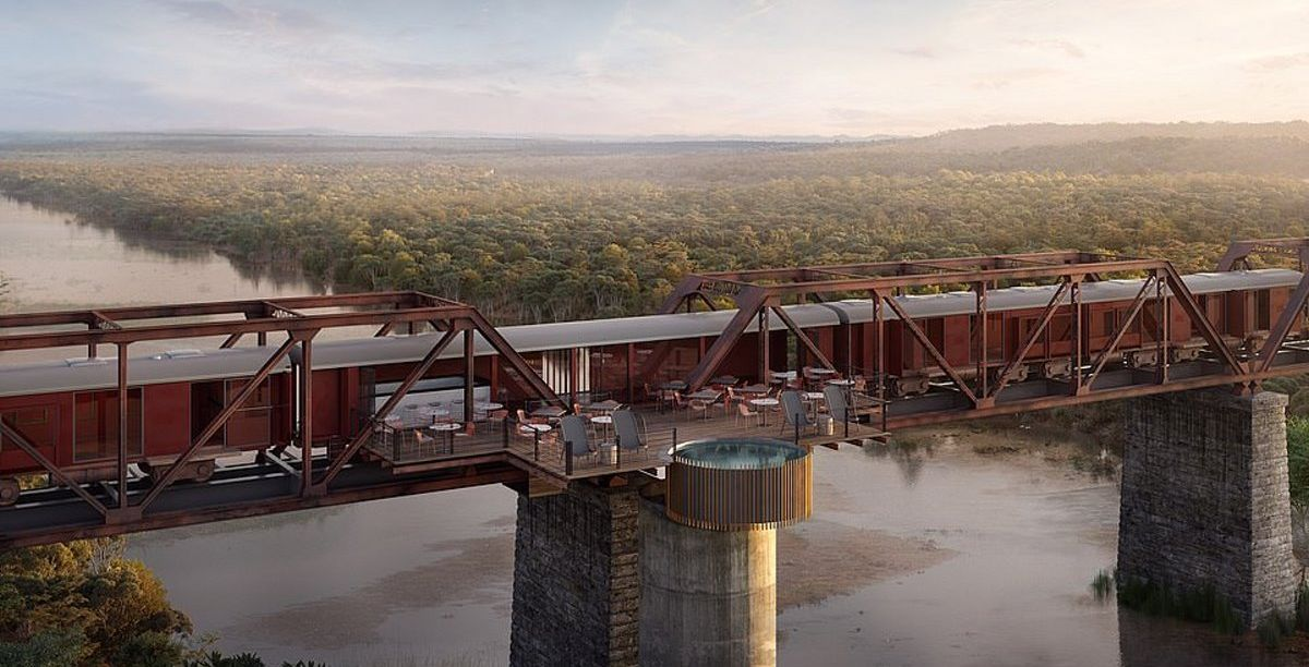 Ξενοδοχείο Kruger Shalati πάνω στη γέφυρα
