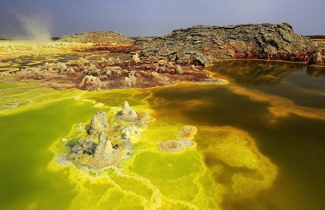 Τα υδροθερμικά πεδία στην περιοχή Dallol της Αιθιοπίας