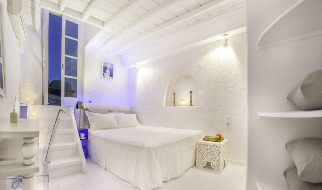 Κρεβάτι δωματίου Mykonos Town Pad