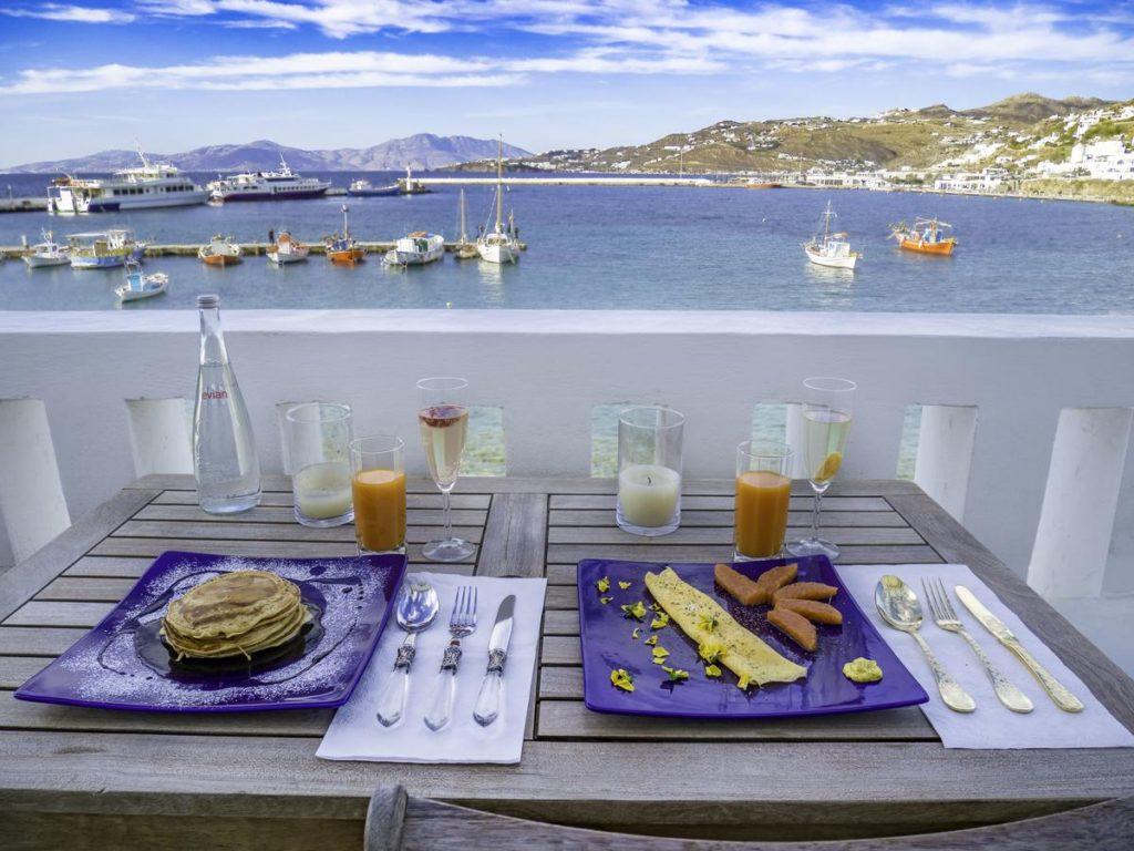 Πρωινό στο Mykonos Town Pad