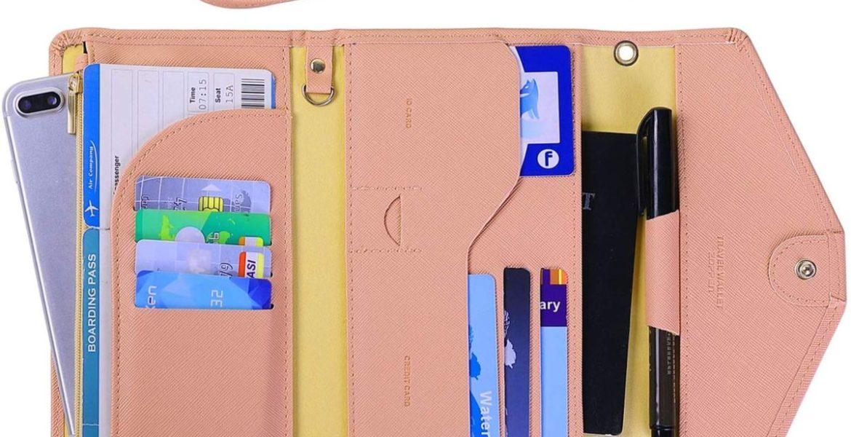 ταξιδιωτικό πορτοφόλι ροζ