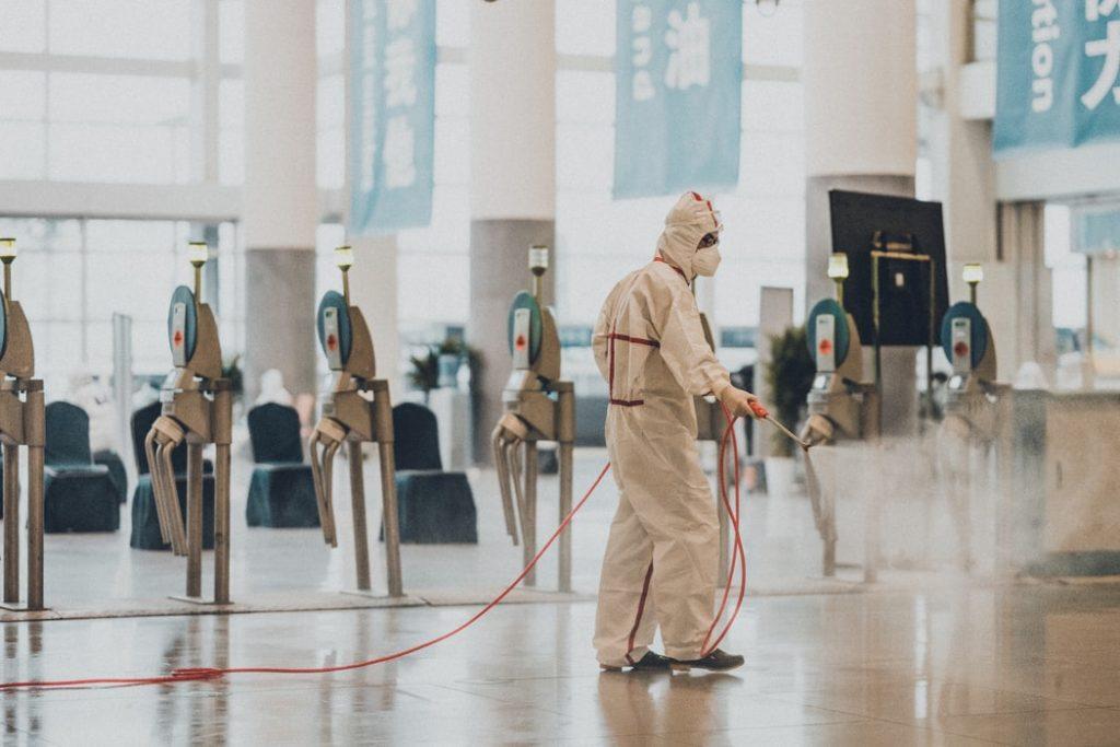 Αεροδρόμιο Απολύμανση Κορονοϊός