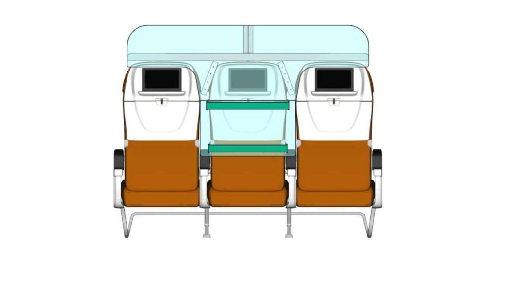 Πως θα είναι τα μεσαία αεροπορικά καθίσματα; (εικόνες)