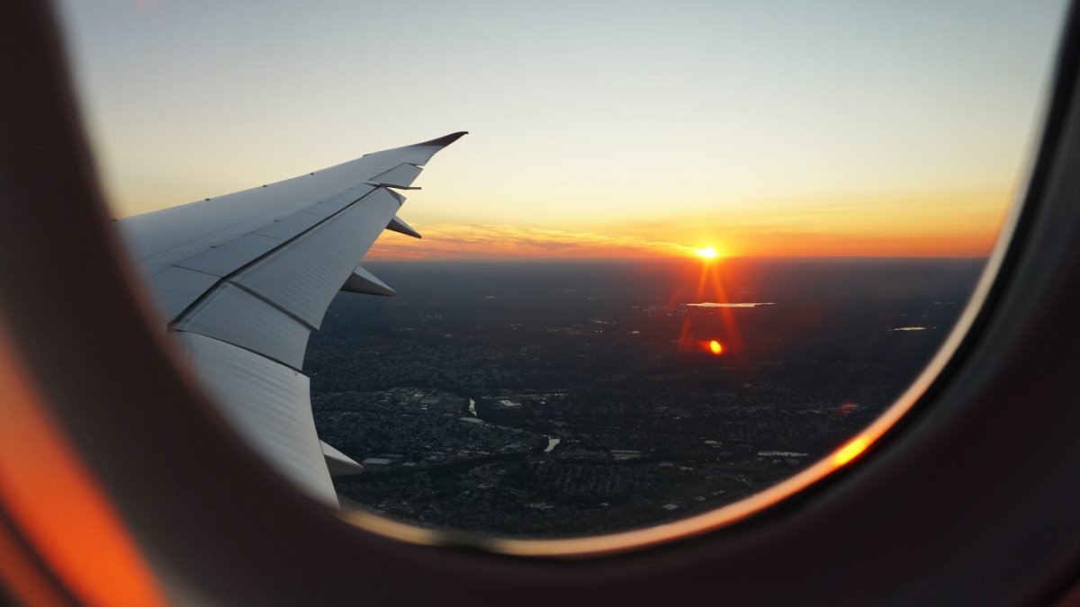 Αεροπλάνο Ηλιοβασίλεμα
