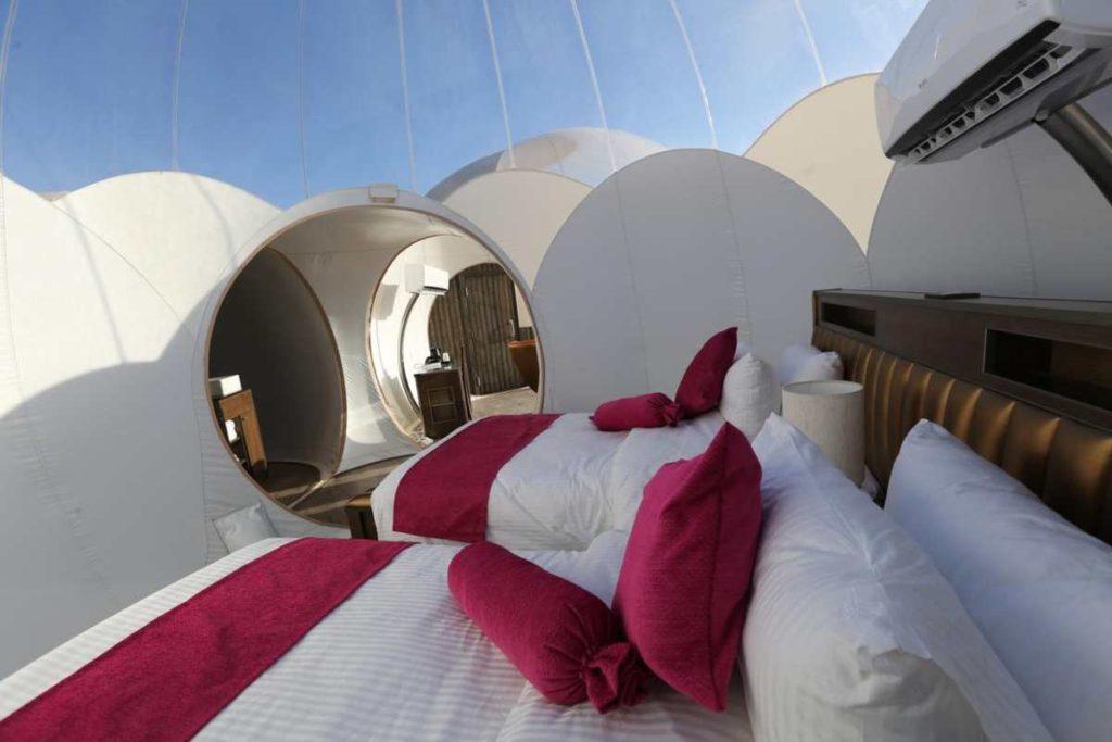 Bubble Luxotel μώβ κρεβάτι