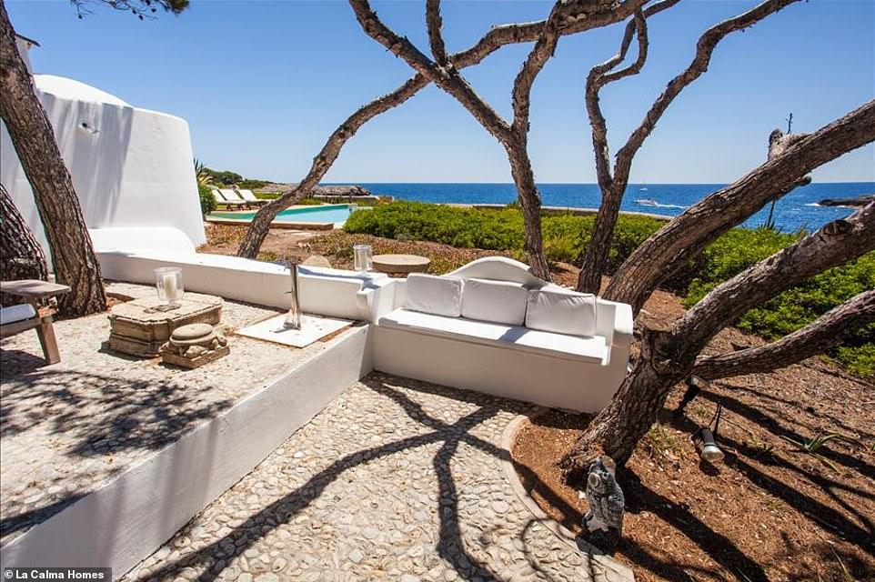Καθιστικό Villa Ibizan