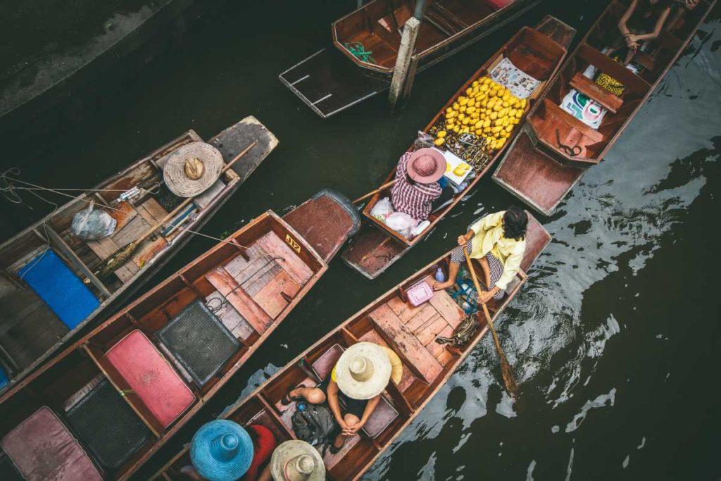 Αγορά πάνω σε γόνδολα, Ταϊλάνδη
