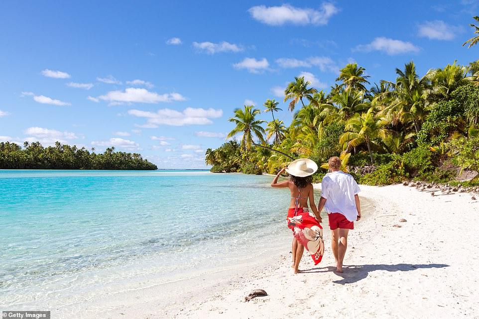 Ζευγάρι στα νησιά Cooks