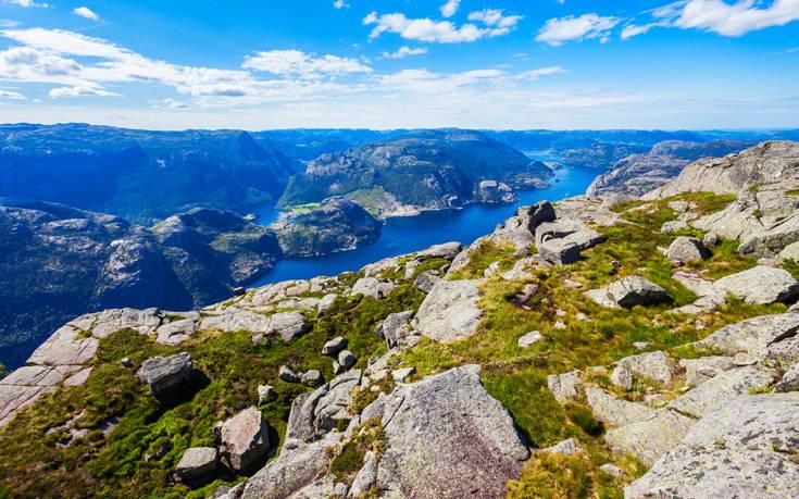 βράχος στην Νορβηγία