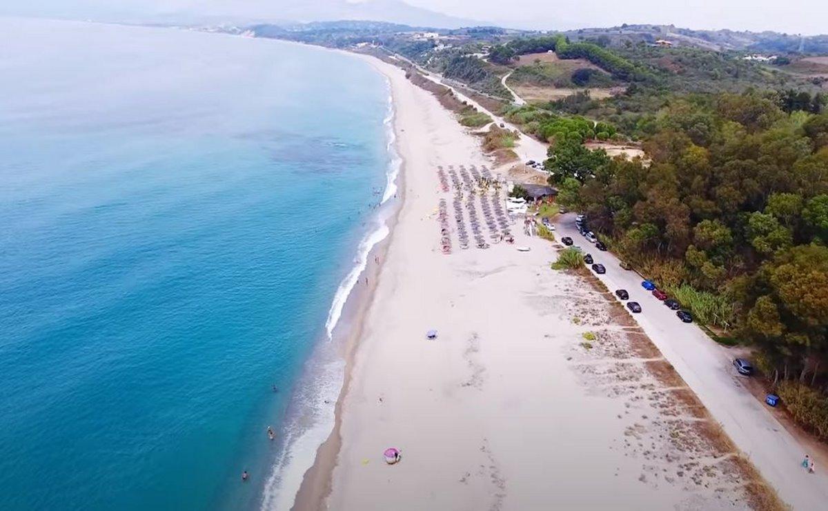 Παραλία Μονολίθι, Πρέβεζα. Λήψη από ψηλά