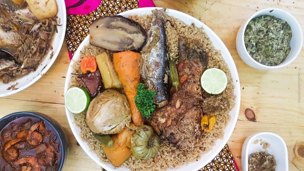 To παραδοσιακό πιάτο Thiebou diene