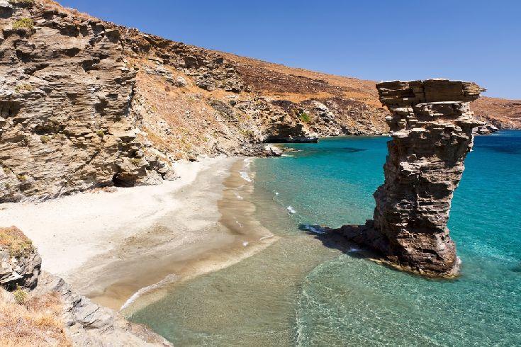 Παραλία της Γριάς το Πήδημα, Άνδρος