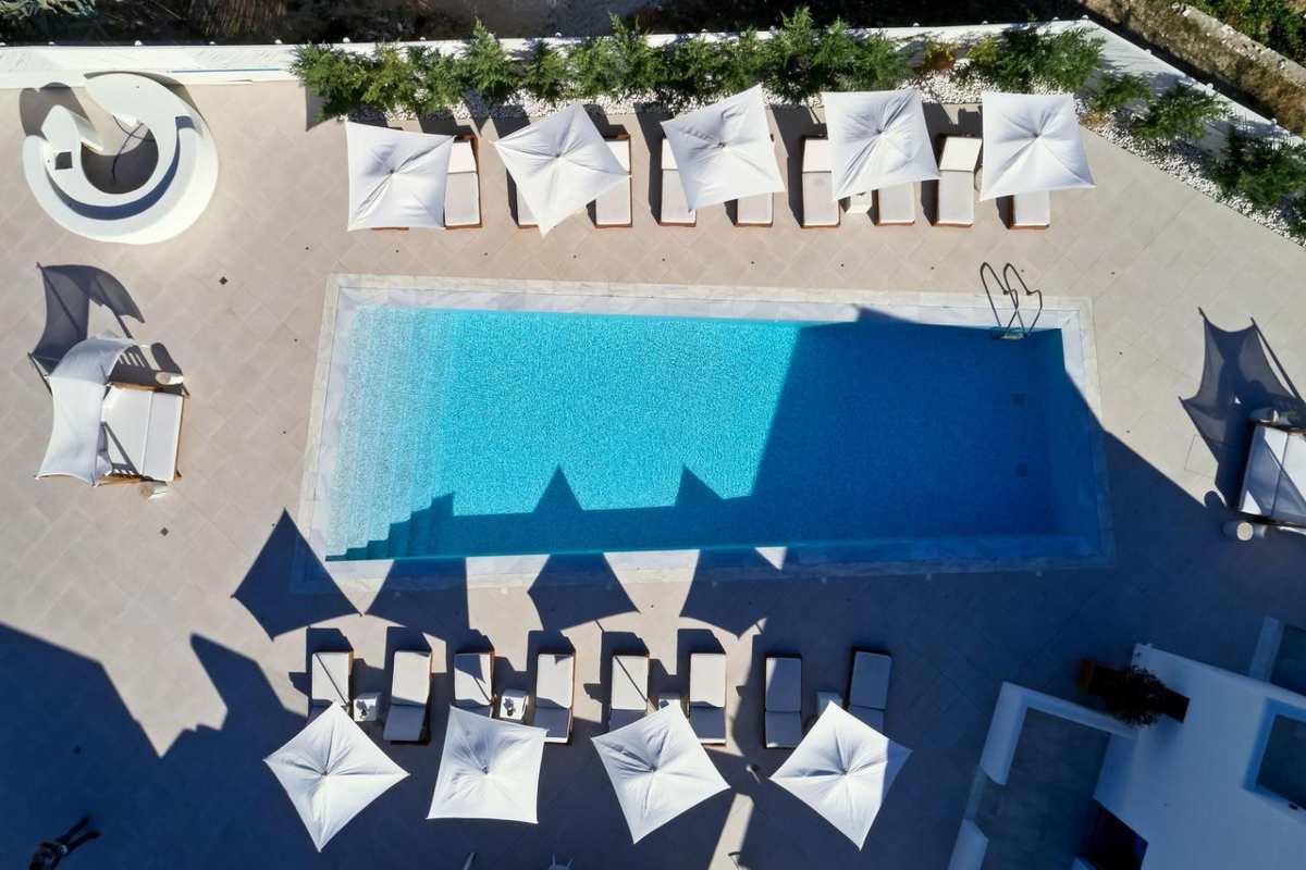 18 Grapes Hotel, πισίνα από ψηλά