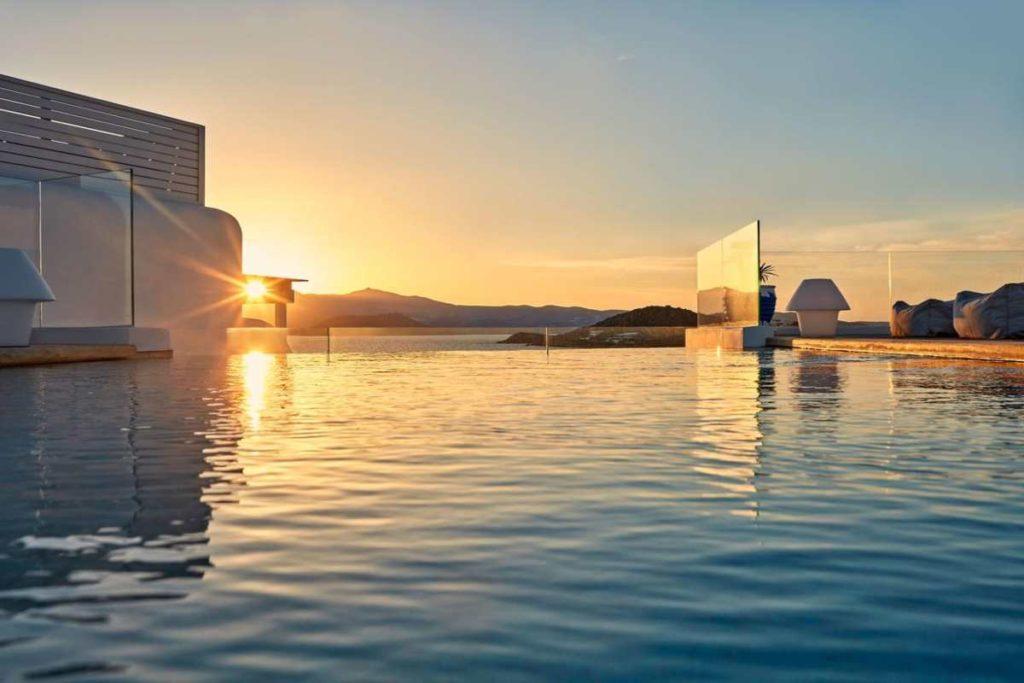 18 Grapes Hotel, ηλιοβασίλεμα, πισίνα