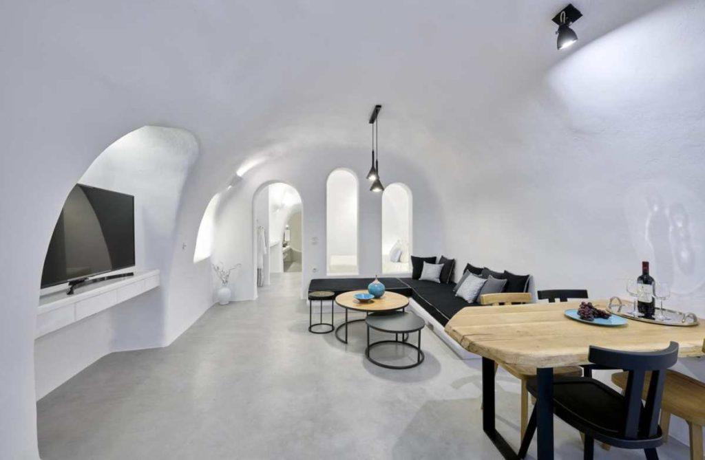 Cave Suite σαλόνι, Σαντορίνη