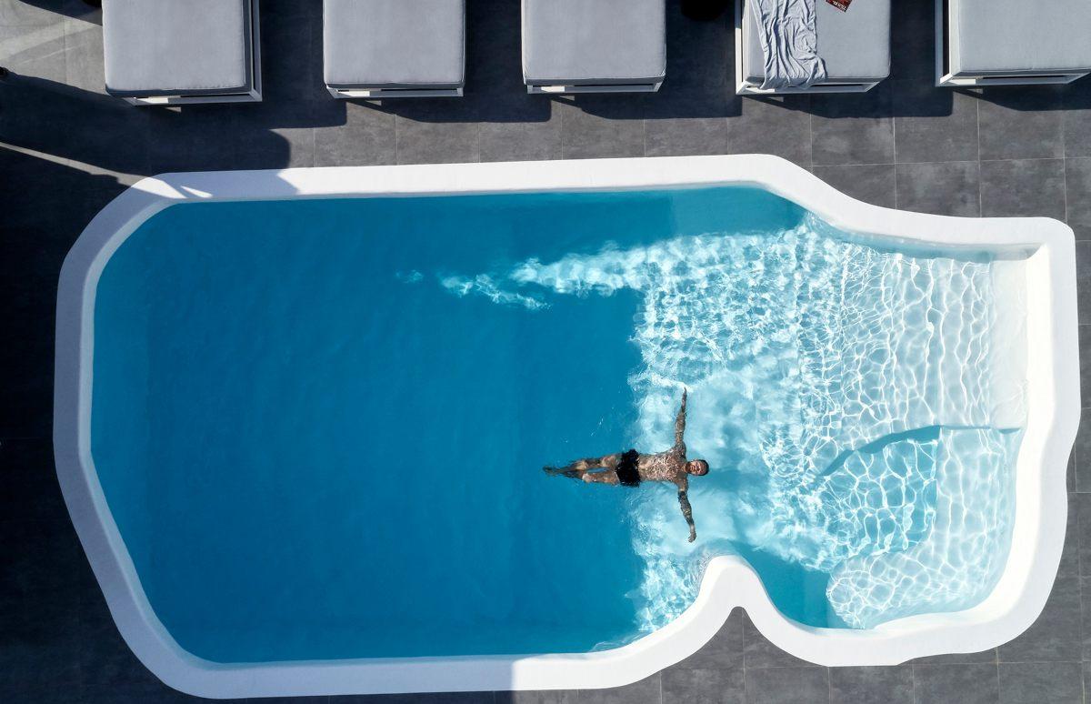 Mykonos Princess πισίνα από ψηλά