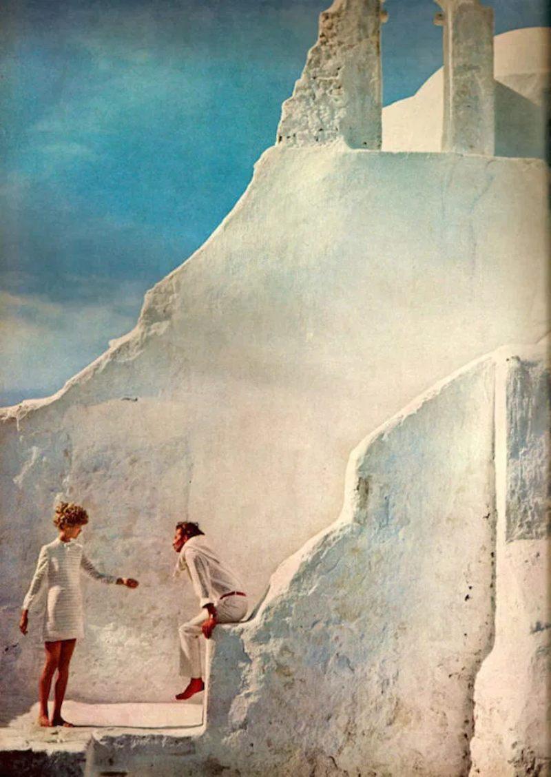 Η Jean Shrimpton και ο Jeanloup Sieff στη Μύκονο