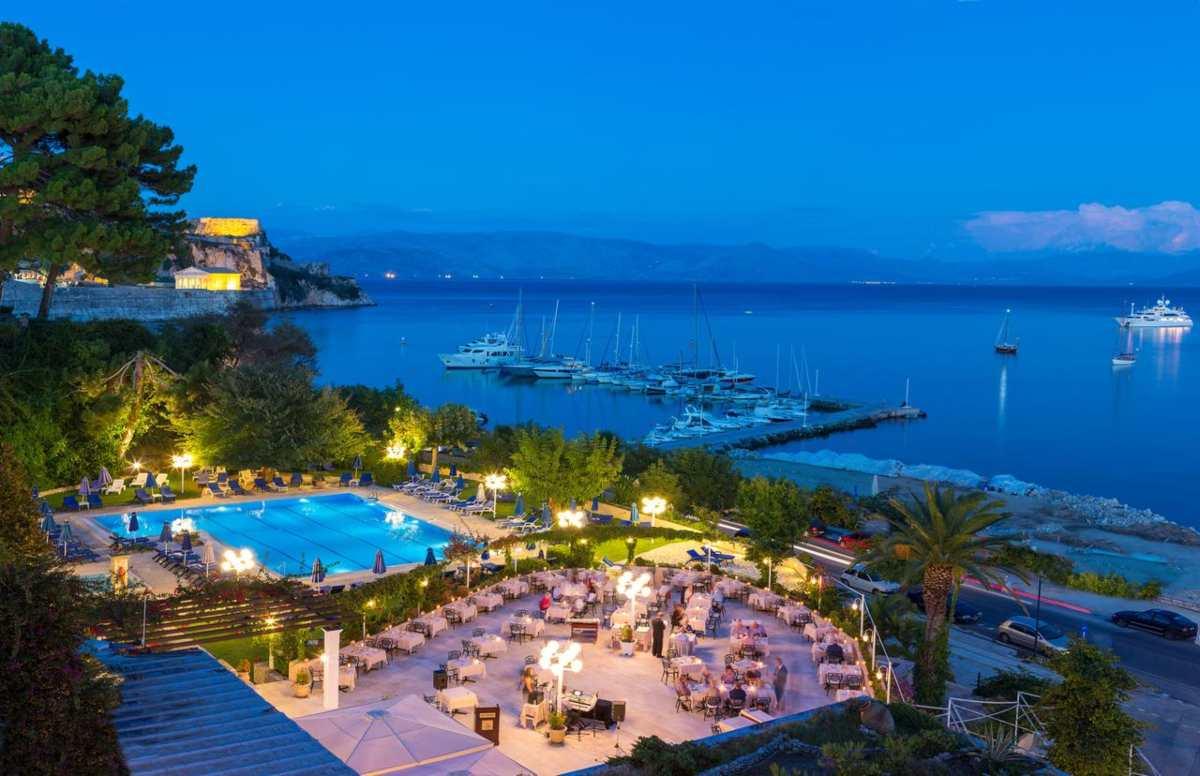 Corfu Palace Hotel από ψηλά