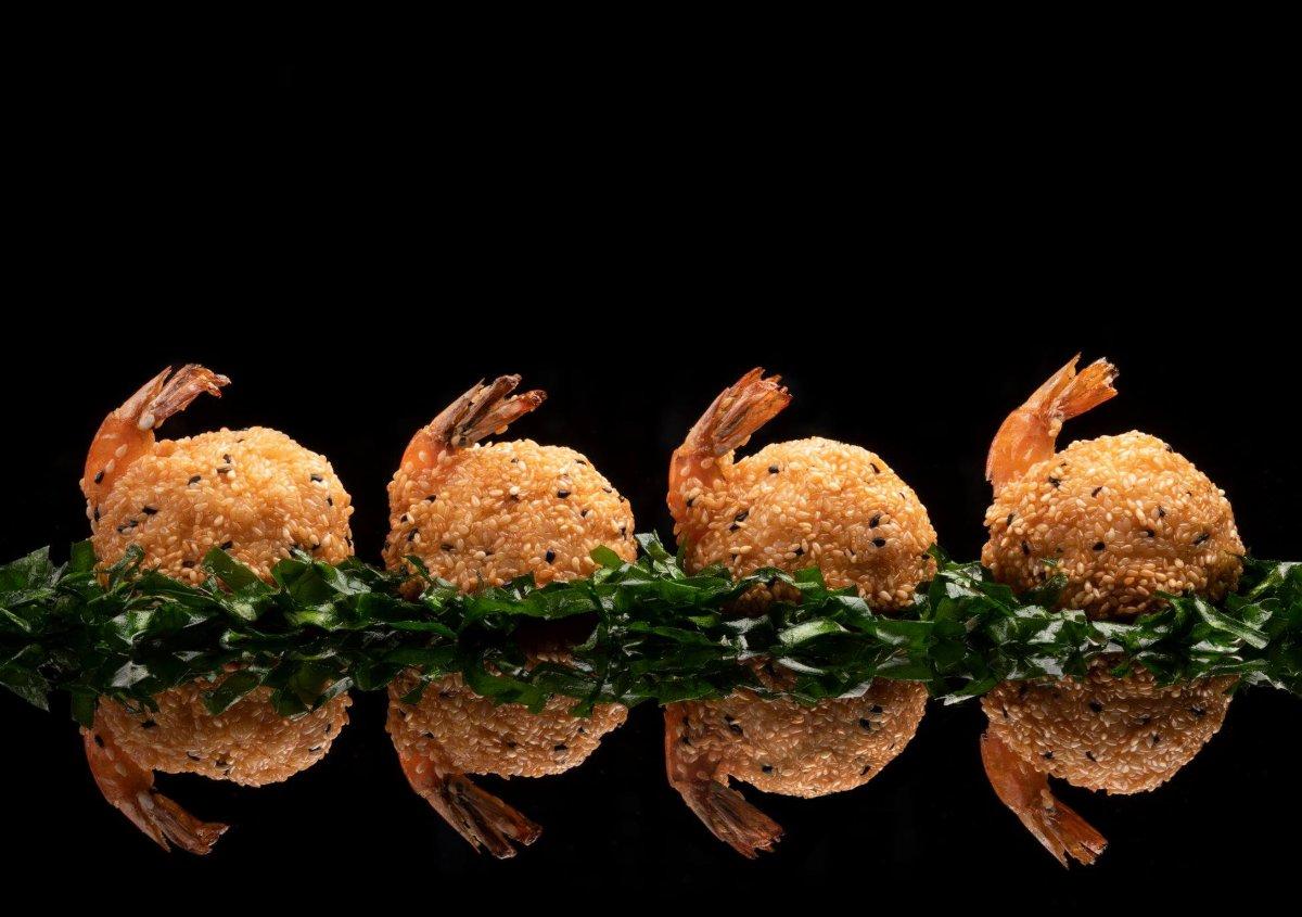 πιάτο με γαρίδες στο Hakkasan