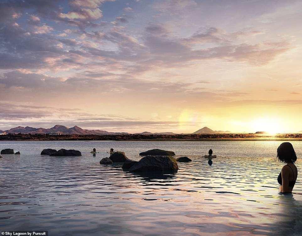 λίμνη ηλιοβασίλεμα