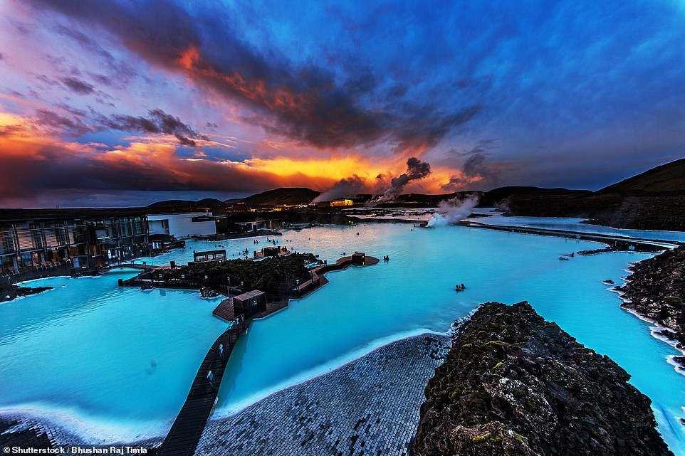 η λίμνη από ψηλά, Ισλανδία