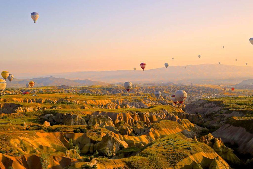 Καππαδοκία αερόστατα, Τουρκία