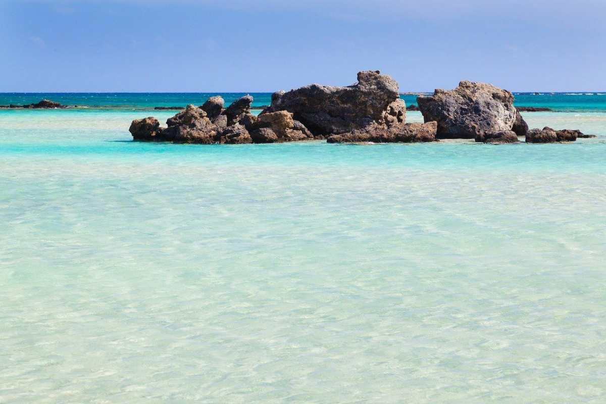 Παραλία στο Ελαφονήσι, Κρήτη
