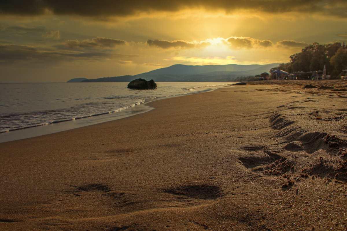 Ηλιοβασίλεμα, παραλία