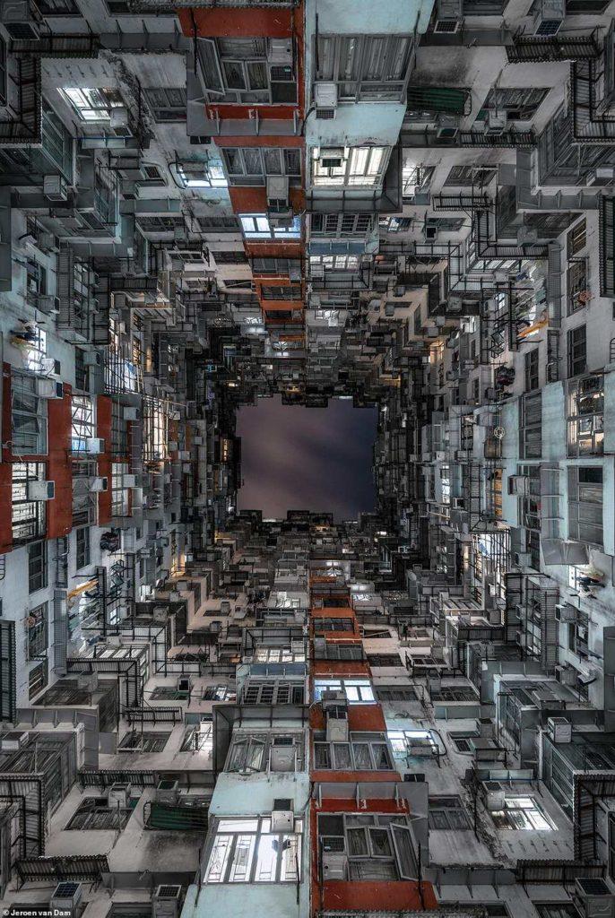 Hongk Kong οπτική πολυκατοικιών
